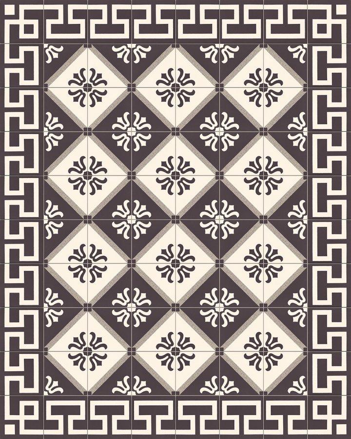 Fliesenteppich-schwarz-weiß-SF 254 M +  SF 323 M4