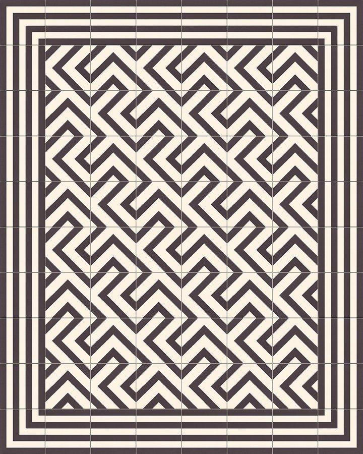 Fliesenteppich-schwarz-weiß-SF TG 7202 M +  SF 215-M1