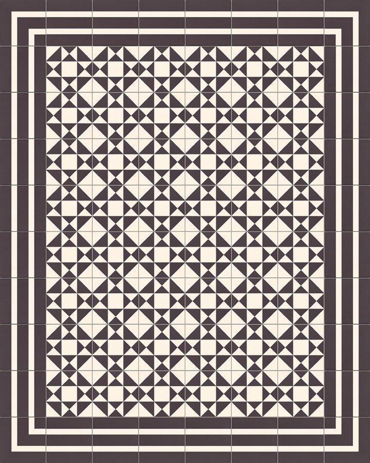 Fliesenteppich-schwarz-weiß-SF TG 8202 M +  SF 229 M
