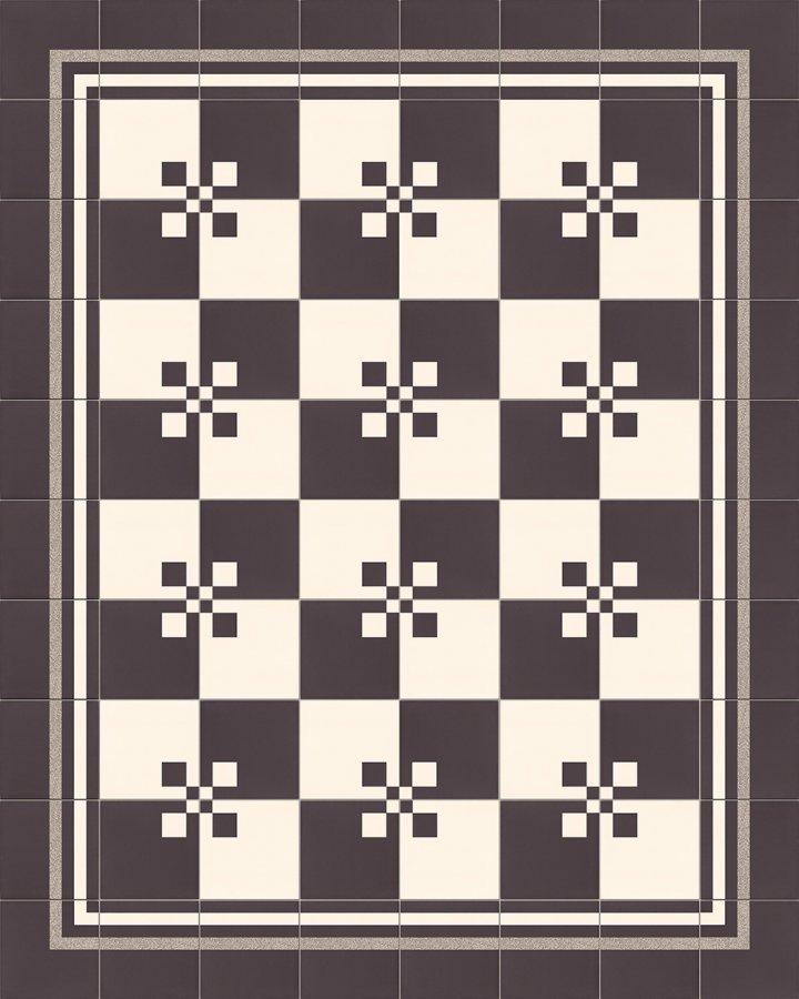 Fliesenteppich-schwarz-weiß-SF TG 8308 M + SF TG 8207 ab M