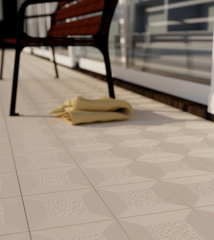 Carreaux pour sol Carreaux en grès - monochromes Verlegebeispiel SF 7.2