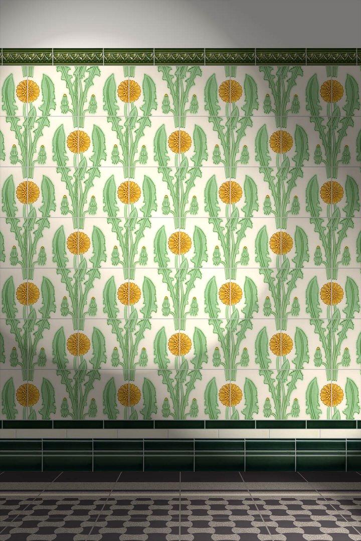Wall tiles Borders, base tiles and trim pieces Verlegebeispiel B 18.28