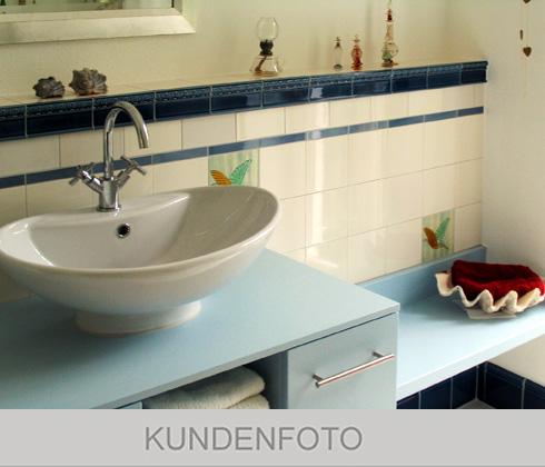 Verlegebeispiel Bad in Weiß.48 mit F 46