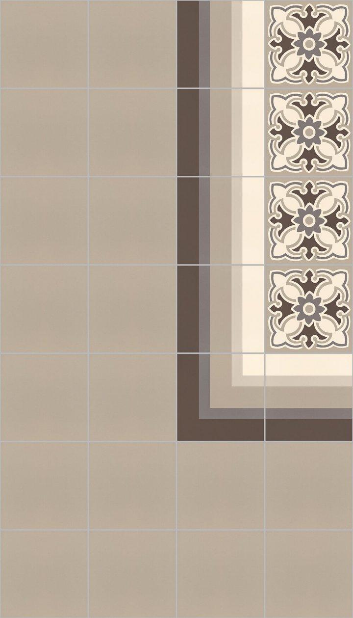 Carreaux pour sol Carreaux en grès - monochromes Calepinagel SF 10.4 rand