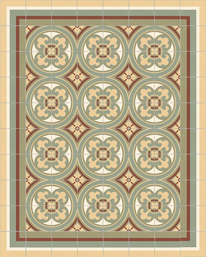 ornamentfliese-verlegemuster-8505I - 550I