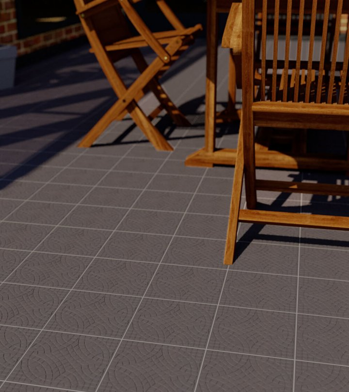 Floor tiles Floor Tiles single-coloured Verlegebeispiel SF 12.11