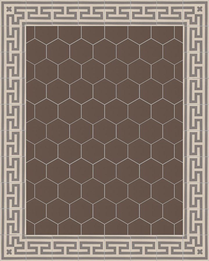 Floor tiles Stonware hexagona floor tiles hexagonall SF 17.18 S
