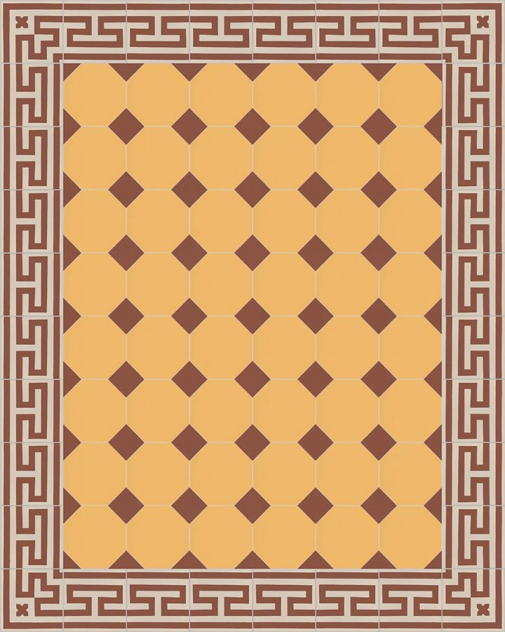 Floor tiles Stoneware octagonal Verlegebeispiel SF 80A.19 S