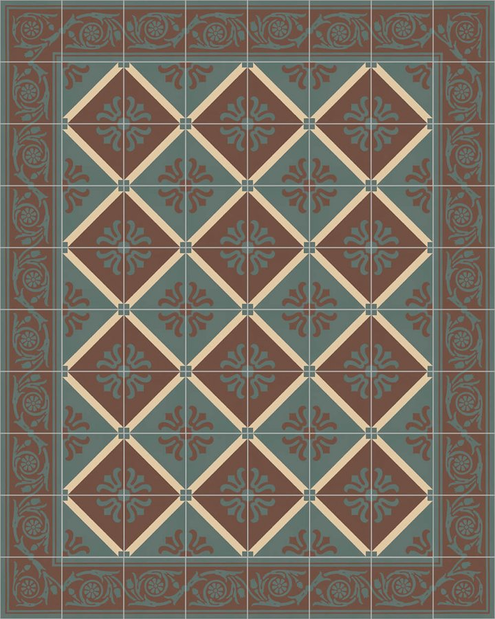 Floor tiles Floor Tiles multi-coloured Layouts and patterns SF 208 B e