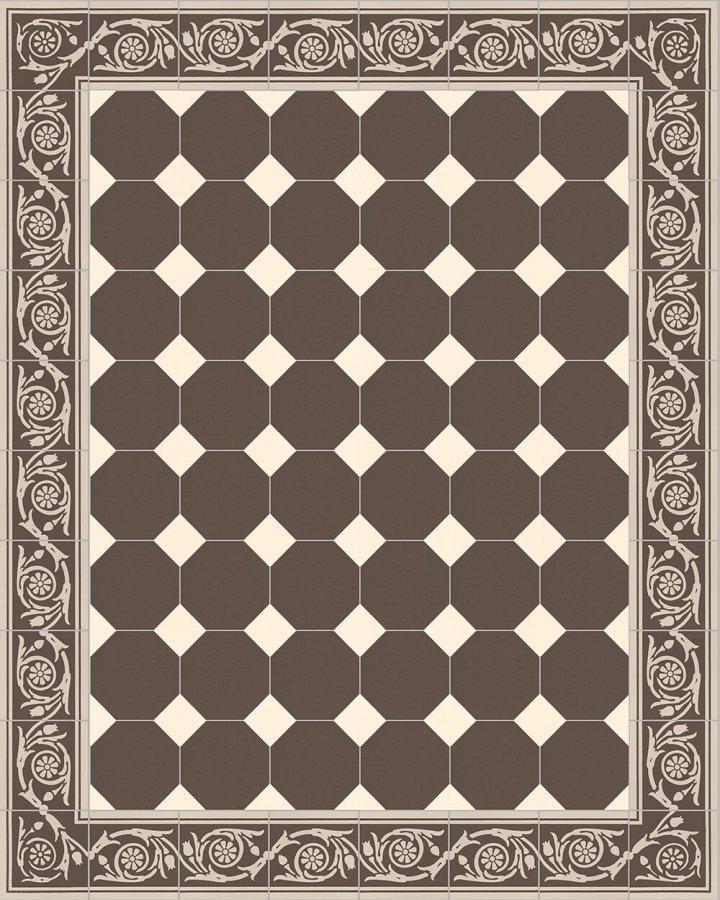 Floor tiles Stoneware octagonal Verlegebeispiel SF 80A.18 S