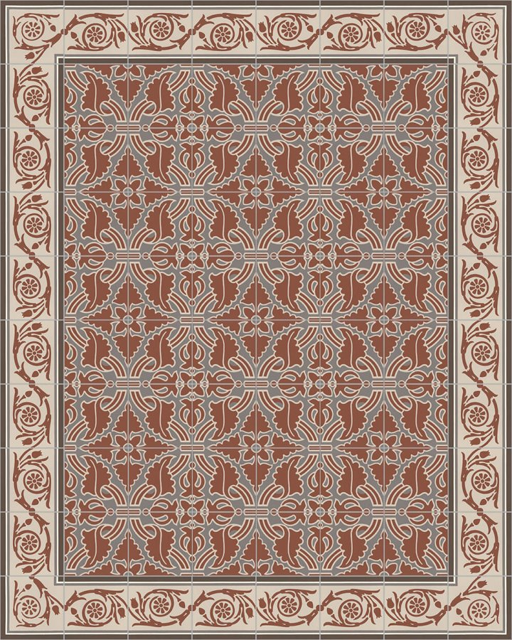 Floor tiles Floor Tiles multi-coloured Layouts and patterns SF 208 F e