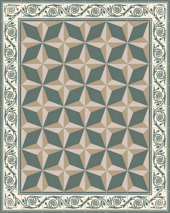 Floor tiles Floor Tiles multi-coloured Verlegebeispiel SF 208 G