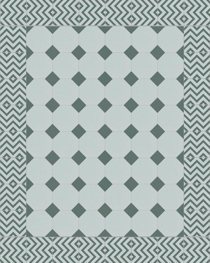 Floor tiles Stoneware octagonal Verlegebeispiel SF 80A.14 S