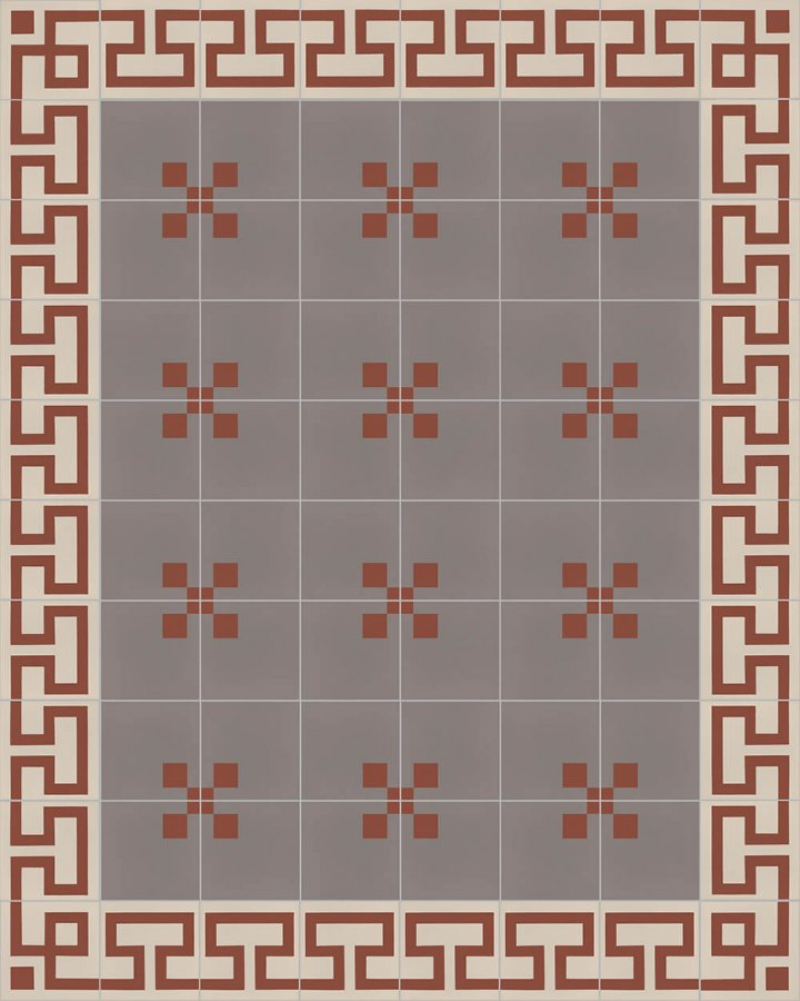 Floor tiles Floor Tiles multi-coloured Layouts and patterns SFTG 8207 D b