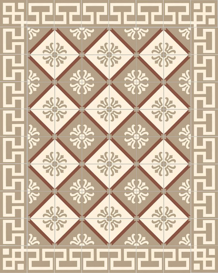 Floor tiles Floor Tiles multi-coloured Verlegebeispiel SF 323 B