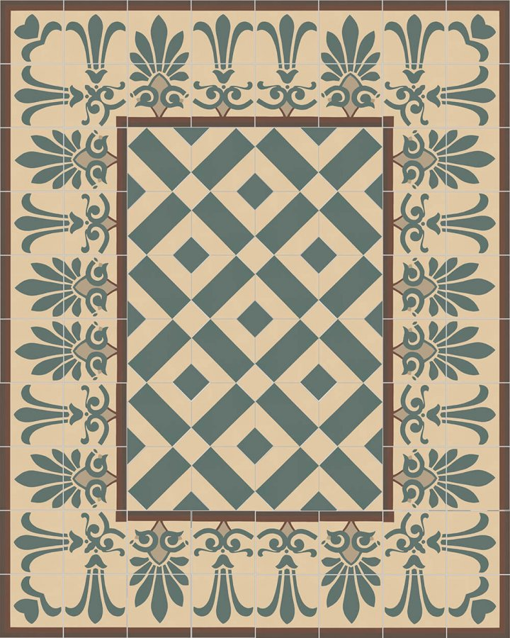 Floor tiles Floor Tiles multi-coloured Layouts and patterns SF 303 B e unten