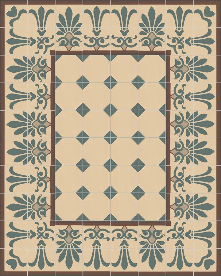 Floor tiles Floor Tiles multi-coloured Layouts and patterns SF 304 B unten