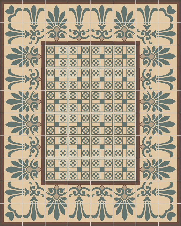Floor tiles Floor Tiles multi-coloured Layouts and patterns SF 303 B unten