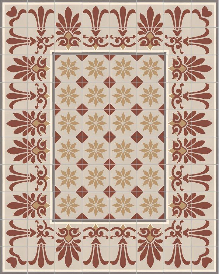 Floor tiles Floor Tiles multi-coloured Layouts and patterns SF 303 D unten