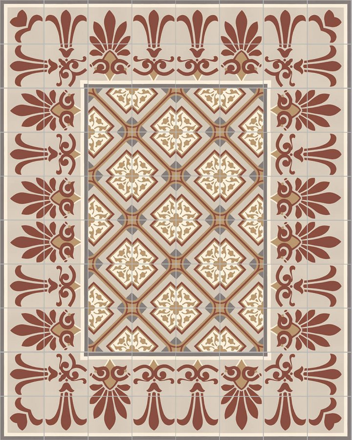 Floor tiles Floor Tiles multi-coloured Layouts and patterns SF 303 D oben