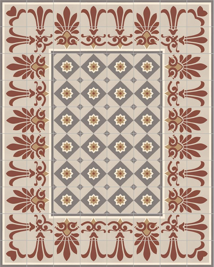 Floor tiles Floor Tiles multi-coloured Layouts and patterns SF 303 D e oben