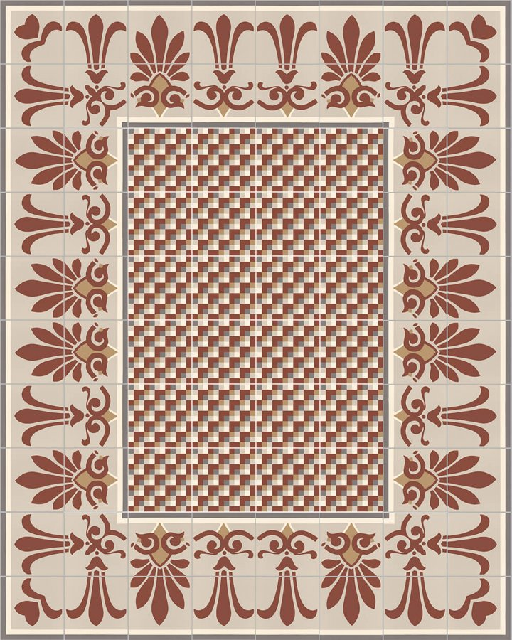 Floor tiles Floor Tiles multi-coloured Layouts and patterns SF 304 D oben