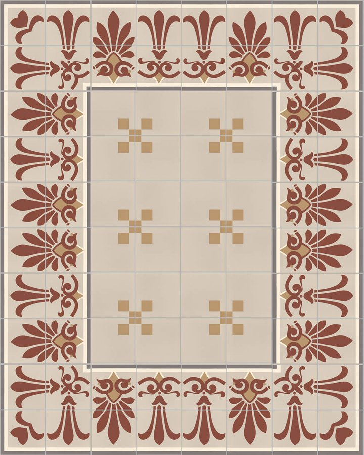 Floor tiles Floor Tiles multi-coloured Layouts and patterns SF 303 D e unten