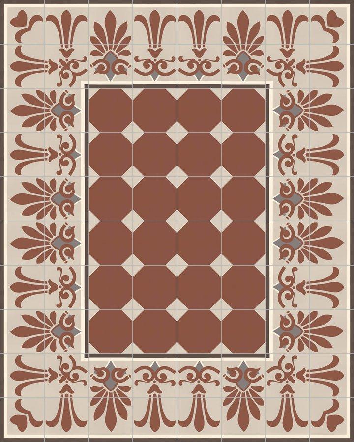 Floor tiles Floor Tiles multi-coloured Layouts and patterns SF 304 F unten