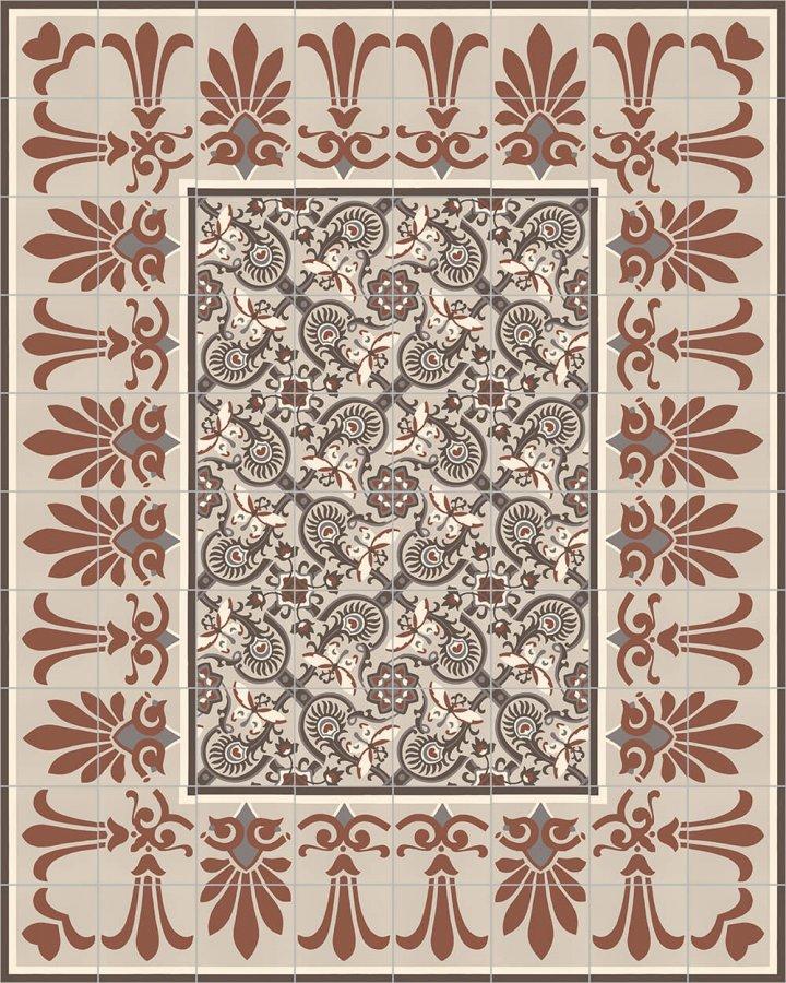Floor tiles Floor Tiles multi-coloured Layouts and patterns SF 303 F e unten