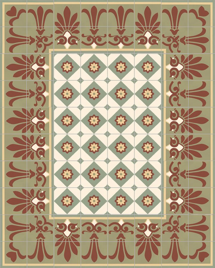 Floor tiles Floor Tiles multi-coloured Layouts and patterns SF 303 I oben