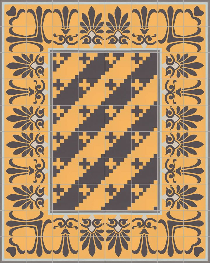 Floor tiles Floor Tiles multi-coloured Layouts and patterns SFTG 7201 H b