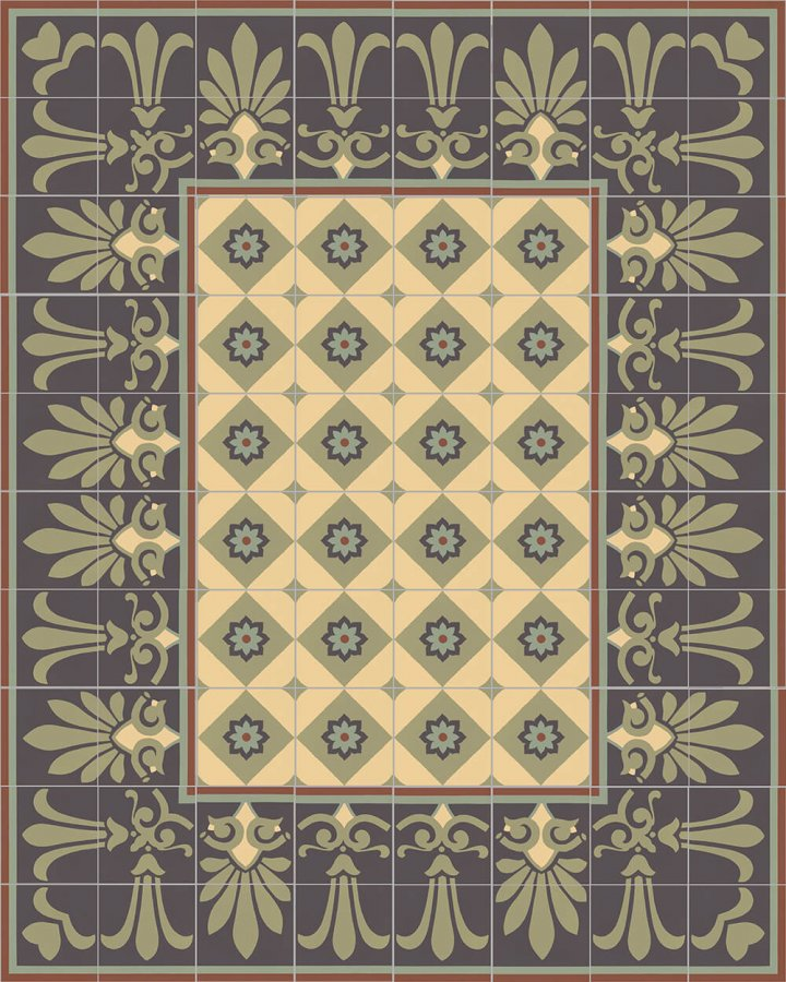 Floor tiles Floor Tiles multi-coloured Layouts and patterns SF 303 J unten