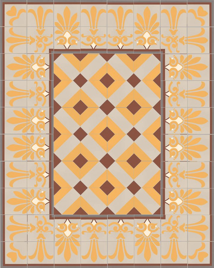 Floor tiles Floor Tiles multi-coloured Layouts and patterns SF 303 K oben