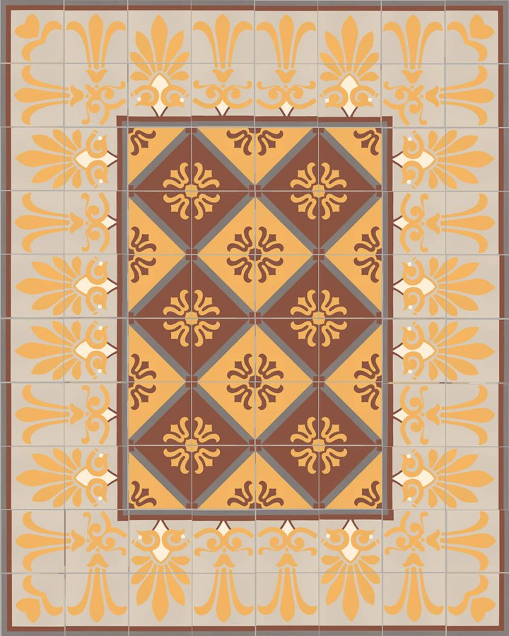 Floor tiles Floor Tiles multi-coloured Layouts and patterns SF 303 K  e unten