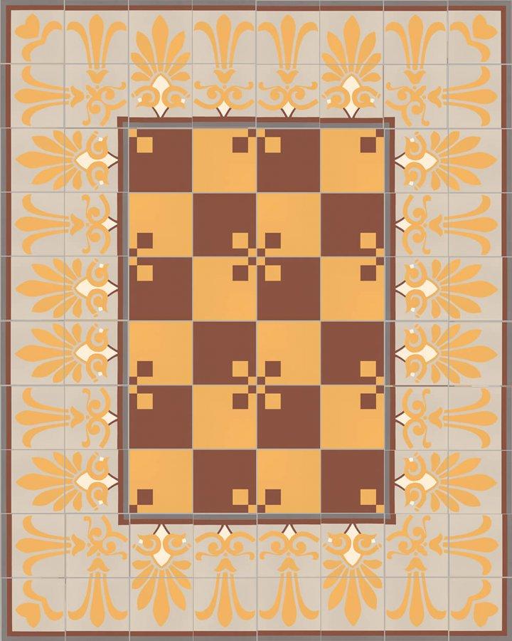 Floor tiles Floor Tiles multi-coloured Layouts and patterns SF 303 K e oben