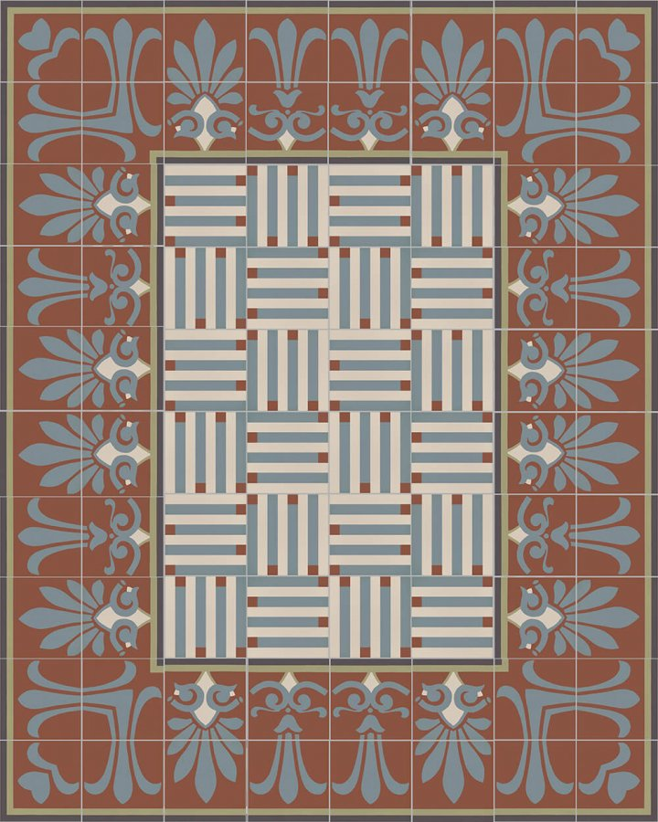 Floor tiles Floor Tiles multi-coloured Layouts and patterns SF 304 L unten