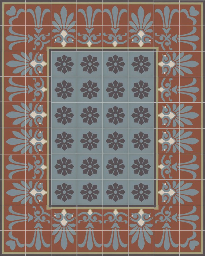 Floor tiles Floor Tiles multi-coloured Layouts and patterns SF 303 L oben