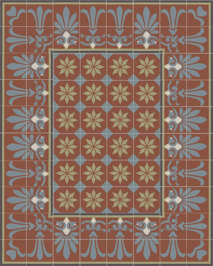 Floor tiles Floor Tiles multi-coloured Layouts and patterns SF 303 L e unten