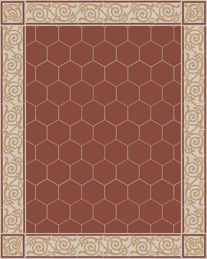Carreaux pour sol Carreaux hexagonal Carreaux hexagonal SF 17.25 S