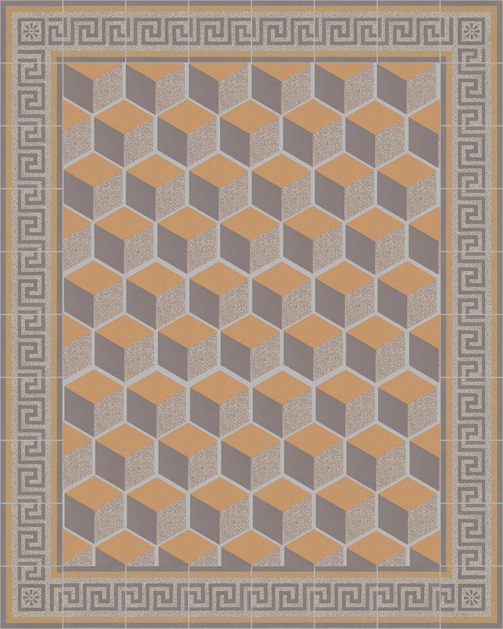 Floor tiles Floor Tiles multi-coloured stoneware hexagonal SF 317 C