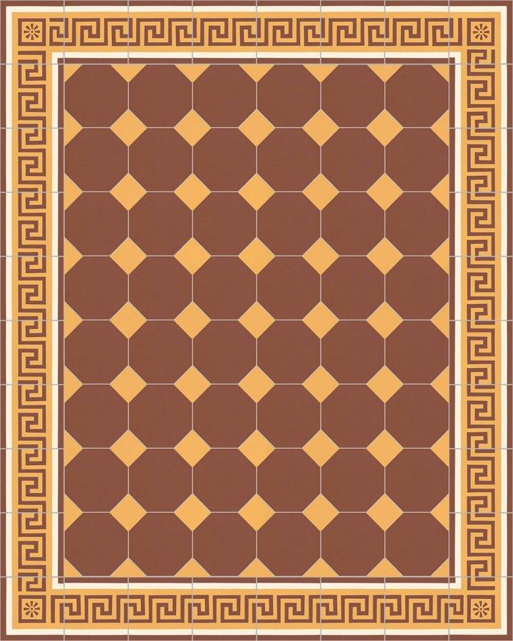 Floor tiles Stoneware octagonal Verlegebeispiel SF 80A.10