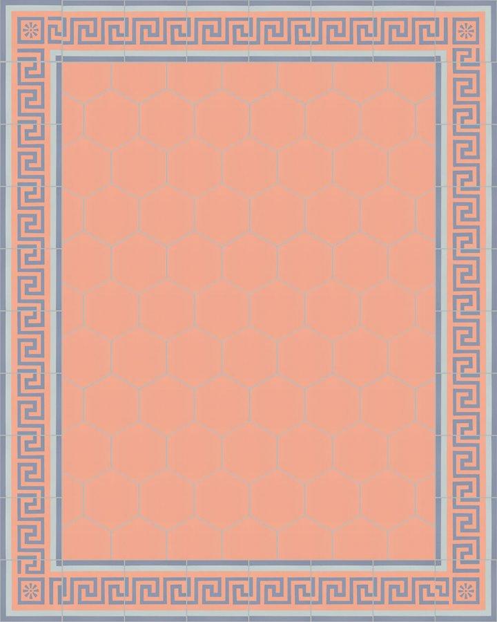 Floor tiles Stonware hexagona floor tiles hexagonal SF 17.16 S