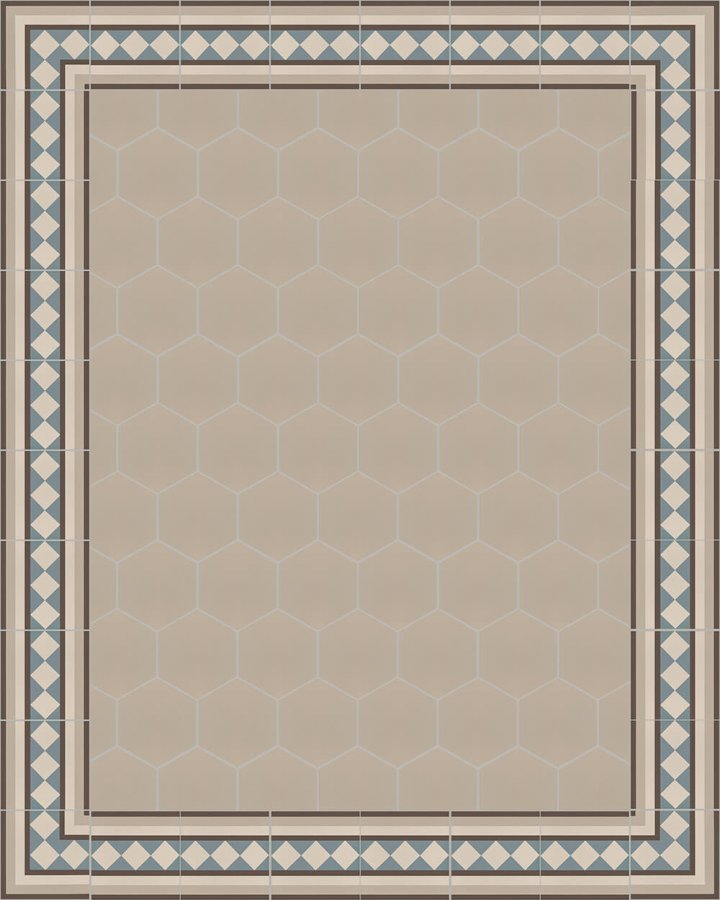 Floor tiles Stonware hexagona floor tiles hexagonal SF 17.4