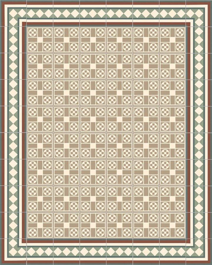Floor tiles Floor Tiles multi-coloured Verlegebeispiel SF 201 3/5