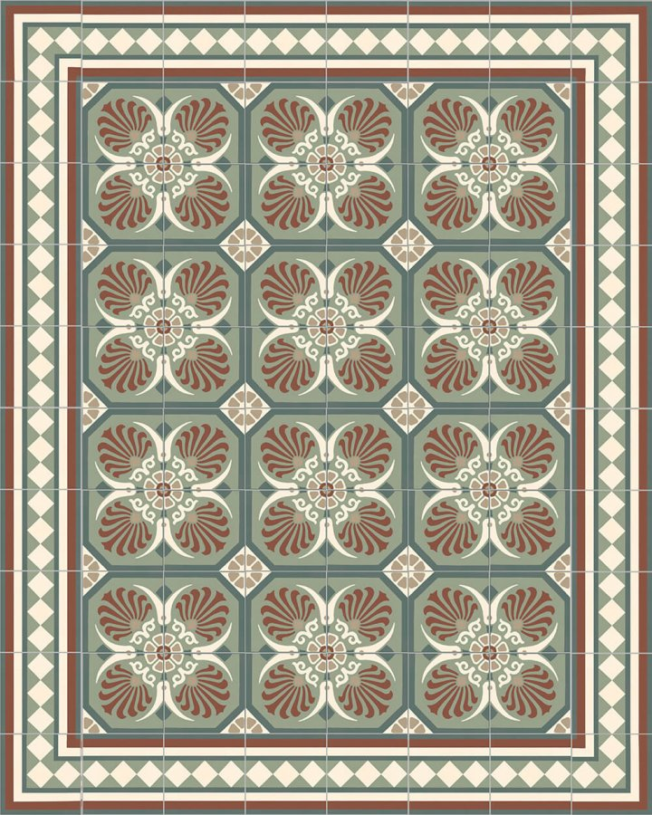 Floor tiles Floor Tiles multi-coloured Verlegebeispiel SF 401 E