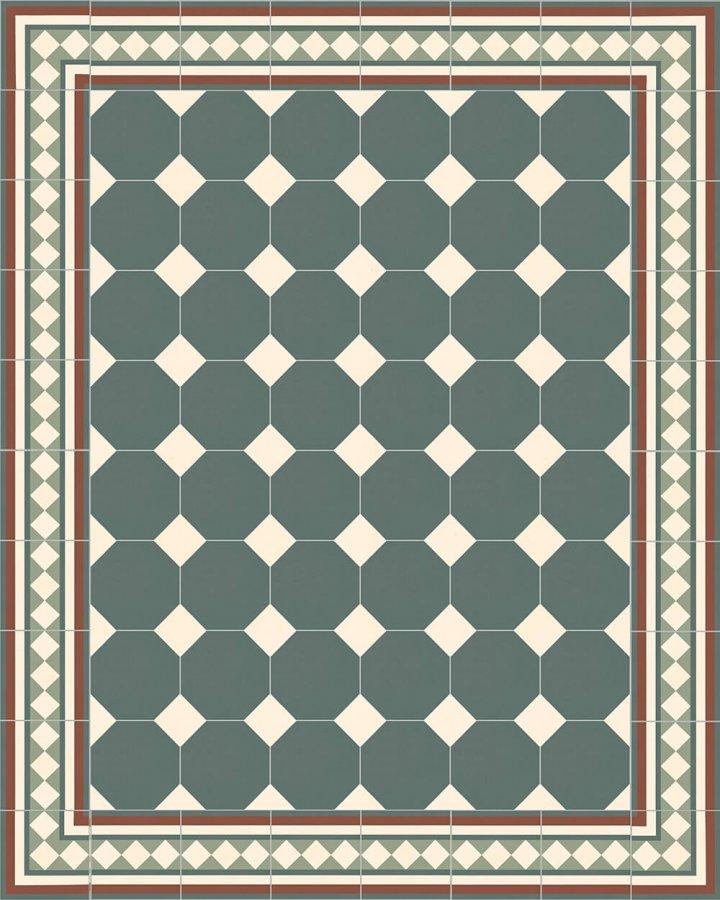 Floor tiles Stoneware octagonal Verlegebeispiel SF 80A.23 S