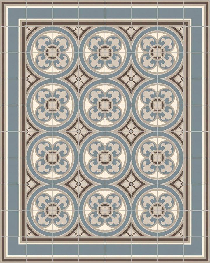 Floor tiles Floor Tiles multi-coloured Verlegebeispiel SF 550 A