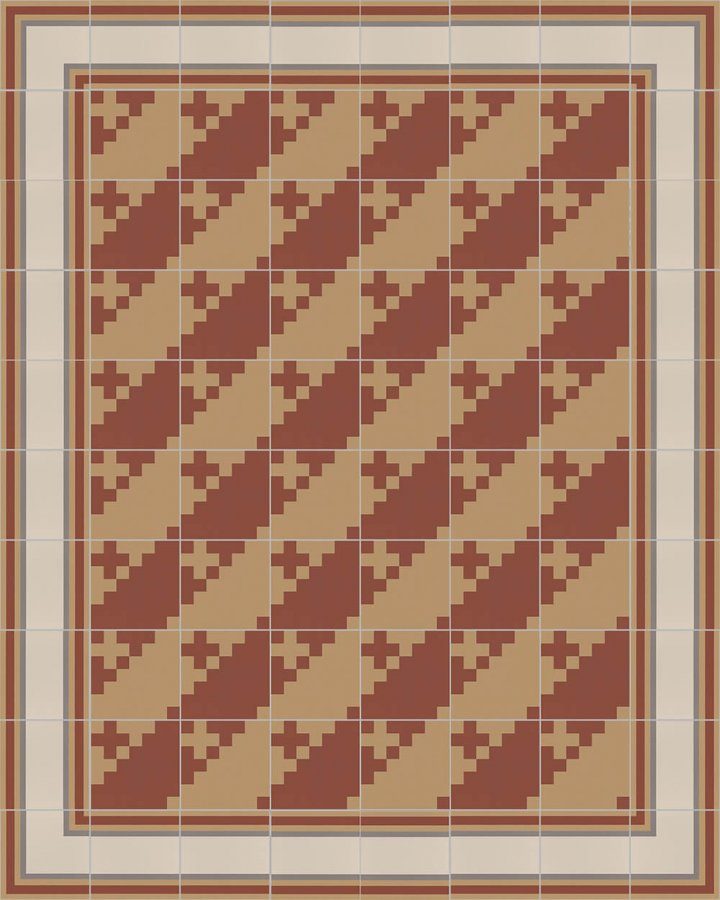 Floor tiles Floor Tiles multi-coloured Layouts and patterns SFTG 7201 D a
