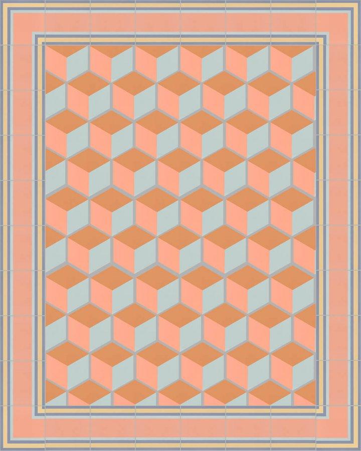 Carreaux pour sol Grès fin - polychrome Carreaux hexagonal SF 317 N