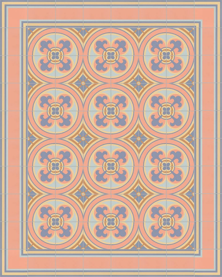 Floor tiles Floor Tiles multi-coloured Layouts and pattern SF 505 N e